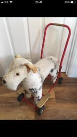 Vintage Push along/ride on Toy Dog