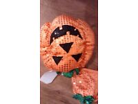 Halloween pumpkin costume for small dog cat. Sparkly, new with tags. velcro fastened £6