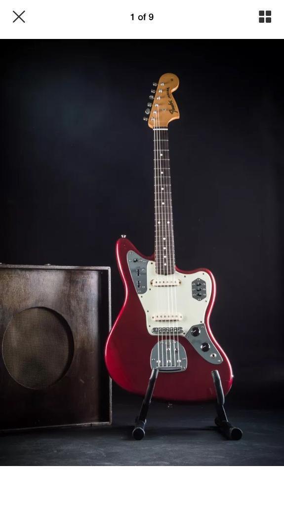 Fender Jaguar with fender deluxe hardcase