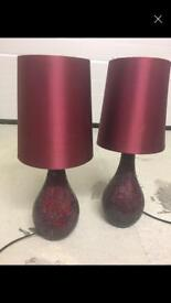 Red/wine table lamps