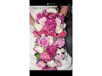 Bridal bouquet and top table flowers