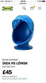 Blue IKEA Egg Chair