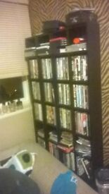 DVDs and shelves