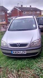 Vauxhall Zafira 2.2 Design. MOT til August. Drive away or Spares or repair, 7 seater