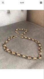 Gold belcher chain and bracelet