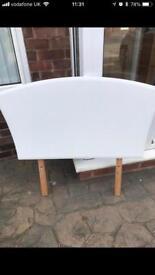 Single White Headboard