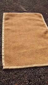 Jute / Sisal rug, very large, 200x135 cm, latex backed, great for conservatories.