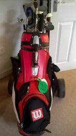 Entire Set of Clubs, Bag, Balls, Trolly, Tees, Markers, Waterproofs - Ideal Set