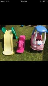 Little tikes outdoor slide/ car/ see saw