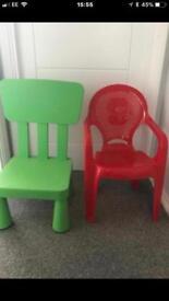 2 x Kids Chairs IKEA Mammut
