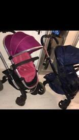Icandy p3 fuschia stroller