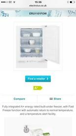 Brand new Electrolux built-under freezer