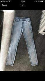 *New* Size 8 ladies acid wash jeans