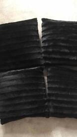 Black cushions