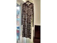 Monsoon black/gold knitted dress 12
