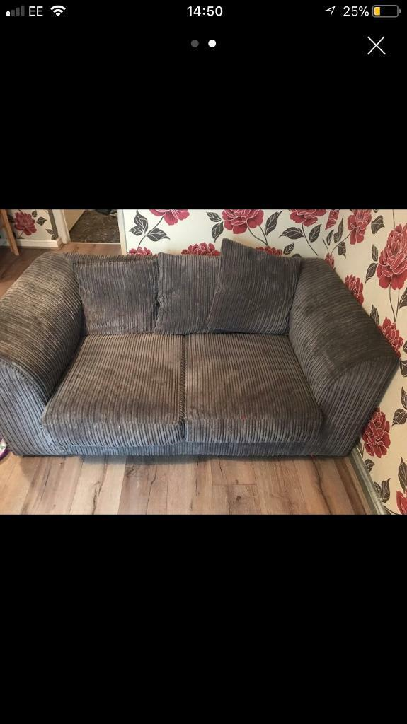 2 seater grey sofa. No rips or tears. Bought as a template or art sofa until got new one