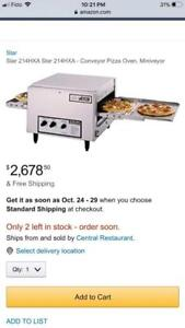 $3000 Star Holman toaster conveyor pizza oven for only $700 ! Save $$$ counter top