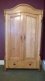 Large Antique Pine Wardrobe