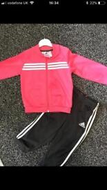 Adidas baby girls tracksuit. Age 12-18 month