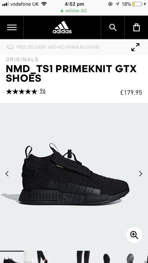 d63f0775bf4e5 Adidas nmd ts1 pk gtx brand new size 7.5. Adidas Nmd Ts1 Primeknit Gore Tex  Core Black Aq0927
