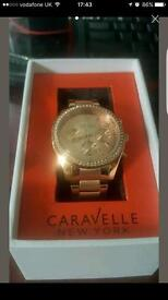 Rose gold genuine caravelle watch brand new condition. Cheap all offers welcome