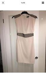 Size 10 warehouse dress nude/pale pink