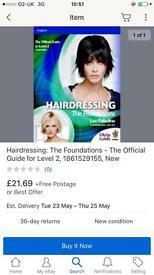 Hairdressing level 2 books