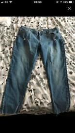 Brand new ankle grazer ripped jeans size 16