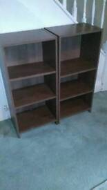 Pair of small bookcase, shelves