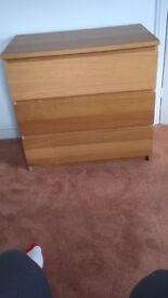 Ikea Malm 3 Chest of Drawers, good condition