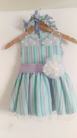Girls babine designer dress age 5 with hairband new