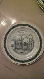 the canterbury collection ,set of 5 plates, old coventry