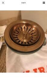 Kitchen sink basket waste