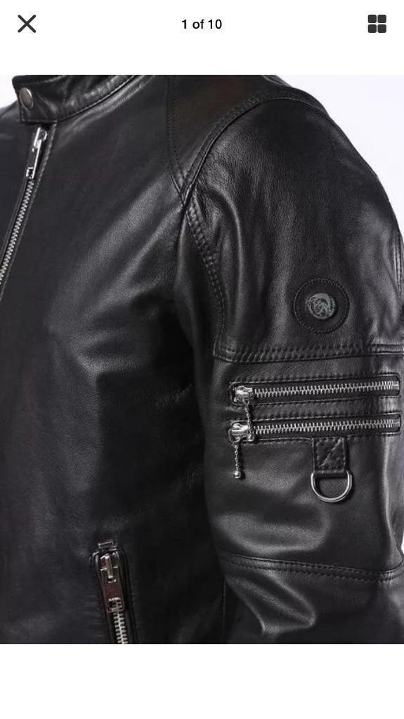 2f702120 Diesel Mens leather jacket. Brand new with tags. Bought 1 month ago ...