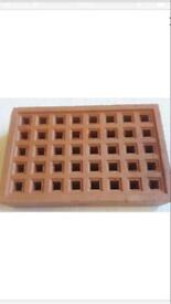 Clay airbrick square holes 215 x 140 x 50 mm £3 each