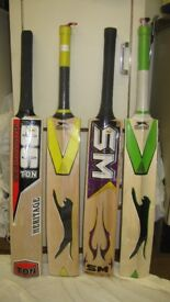 English Wiullow and Kasmir Willow Cricket Bats absolutely New,Neaver been used