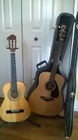 2 used acoustic guitar