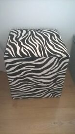zebra cube/stool/side table