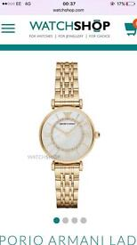 Brand New Ladies Womens Emporio Armani AR1909 mother of pearl watch