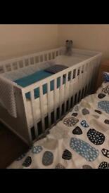 IKEA cot & mattress incl. bumper pad
