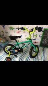 Apollo kids boys bike with stabilisers Marvin monkey