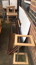 FREE: Random wooden wardrobe doors, frames, pieces of wood