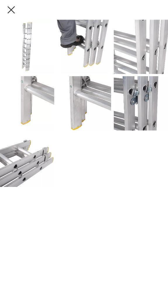 Triple extension 4m ladder Summit Pro.