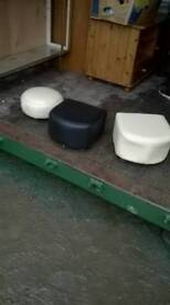 3 small footstools