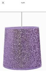 Brand New Lilac Glitter Lampshade
