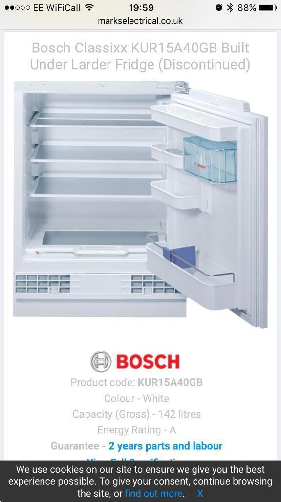 Bosch integrated fridge
