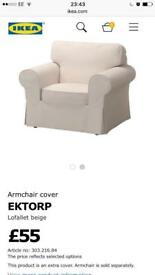 New EKTORP armchair cover