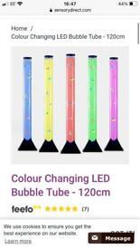 Colour Changing LED Light Bubble Tube Lamp - 120cm
