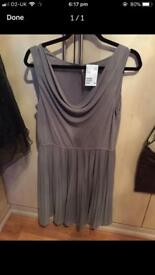 Taupe coloured dress