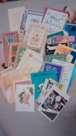 GREETING CARDS, various motives, 25-30 cards, with envelopes